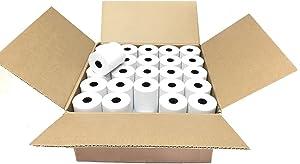 """SJPACK Thermal Paper 2 1/4"""" x 50' Pos Receipt Paper, 50 rolls Cash Register Roll"""
