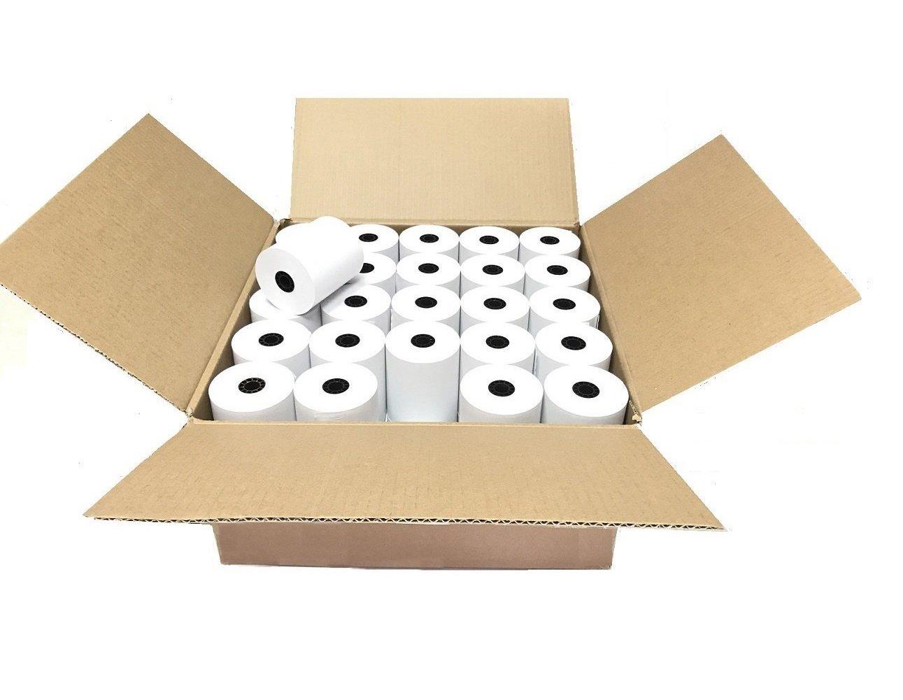 SJPACK Thermal Paper 2 1/4'' x 50' Pos Receipt Paper, 50 rolls Cash Register Roll by SJPACK