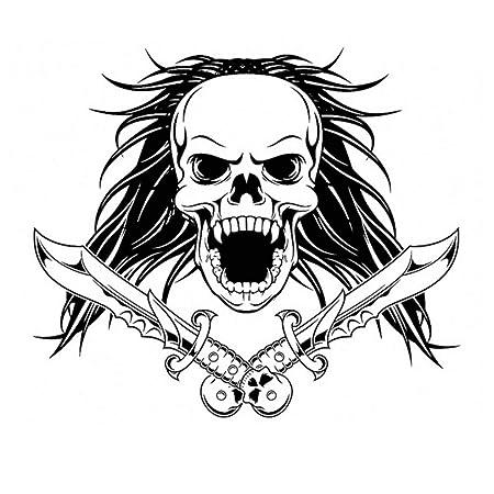 RQQWSJQT Cráneo Halloween Daga Serpiente Pegatina Calcomanía De La ...