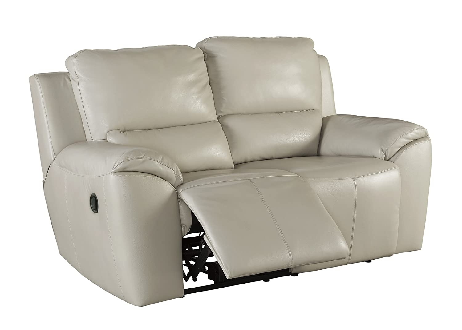 Amazon.com Ashley Valeton U7350074 70  Leather Match Power Reclining Loveseat with Plush Padded Arms Jumbo Stitching Details and Split Back Cushions in ...  sc 1 st  Amazon.com & Amazon.com: Ashley Valeton U7350074 70