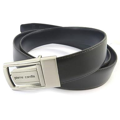 Pierre Cardin N5574 - Ceinture Cuir noir marine - 30 mm  Amazon.fr ... f2d49e66f61