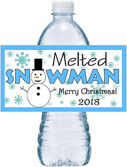 Christmas Decor Personalized Water Bottle Labels 30 Christmas Water Bottle Labels Bottle Labels Holiday Water Labels Holiday Labels