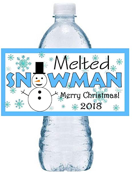 picture about Melted Snowman Water Bottle Labels Free Printable called : 30 Xmas Bash FAV0RS MELTED SNOWMAN Drinking water