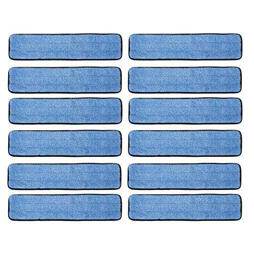 12 Pack 18'' Microfiber Wet Mop Refill Pads for Flat Microfiber Mop Frames by Real Clean (Image #4)