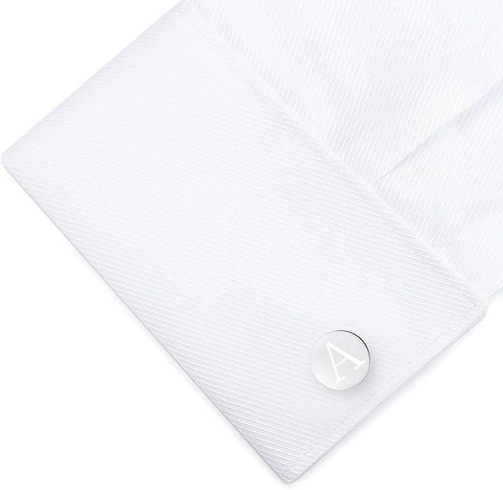 HONEY BEAR Carta Inicial Alfabeto Gemelos & Clip Pasador de Corbata Pisacorbatas - Acero Inoxidable para la Camisa de los Hombres Regalo de Boda del Negocio (Plata) (A): Amazon.es: Joyería