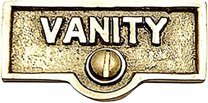 Amazon Com Switch Plate Tags Vanity Name Signs Labels Lacquered Brass Renovator S Supply Home Improvement