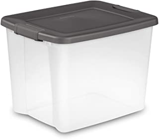 product image for Sterilite 50-Quart Storage Clear Stackable Latching ShelfTote (12 Pack) 19373V06