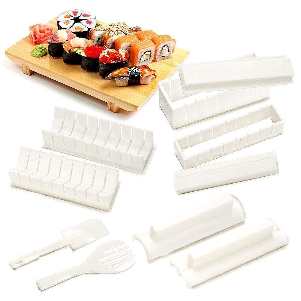 Hemore Easy Sushi Maker 10 pi/èces kit de Fabrication de Sushi pour Les d/ébutants