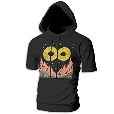 f65cb44b832 Alberto J Campbell Dance Gavin Dance Mens Hipster Hip Hop Double-Sided  Pattern Short Sleeve Longline Pullover Hoodies Shirts at Amazon Men s  Clothing store