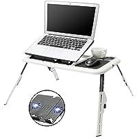 Mesa Laptop, Bastidor de Enfriamiento para Computadora Portátil , Soporte de Aluminio Ajustable Portátil, Doble…