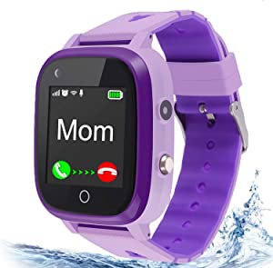 4G Kids Smart Watch,Kids Phone Smartwatch w GPS Tracker,Waterproof,Alarm,Pedometer,Camera,SOS,Touch Screen WiFi Bluetooth Wrist Watch for Boys Girls iPhone iOS Android,3-12 Years Old Children Gifts