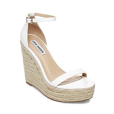 d8ec252a0e Amazon.com | Steve Madden Women's Survive Platform Sandal, White ...