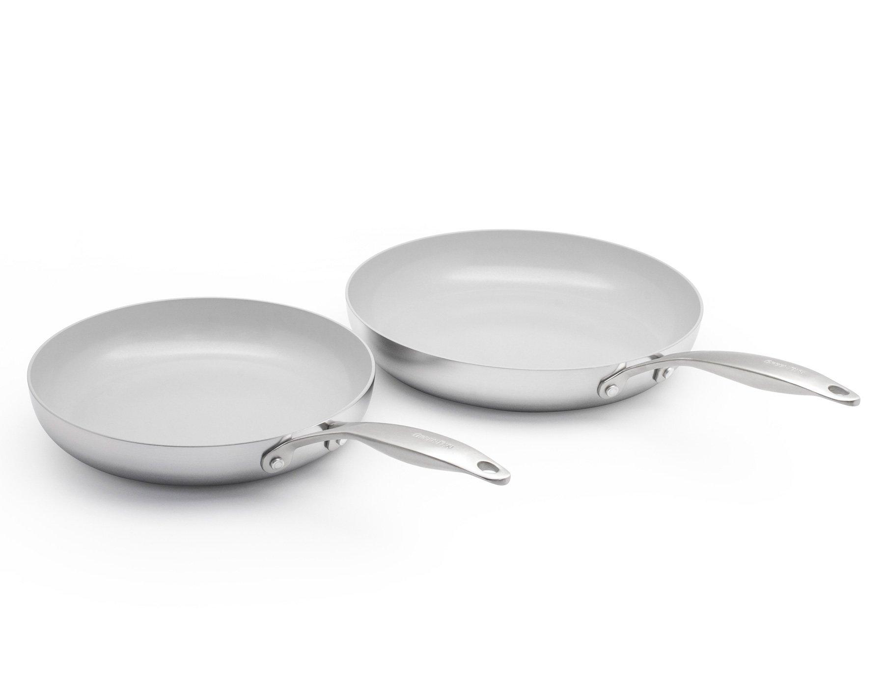 GreenPan Venice Pro 10'' and 12'' Ceramic Non-Stick Open Frypan Set