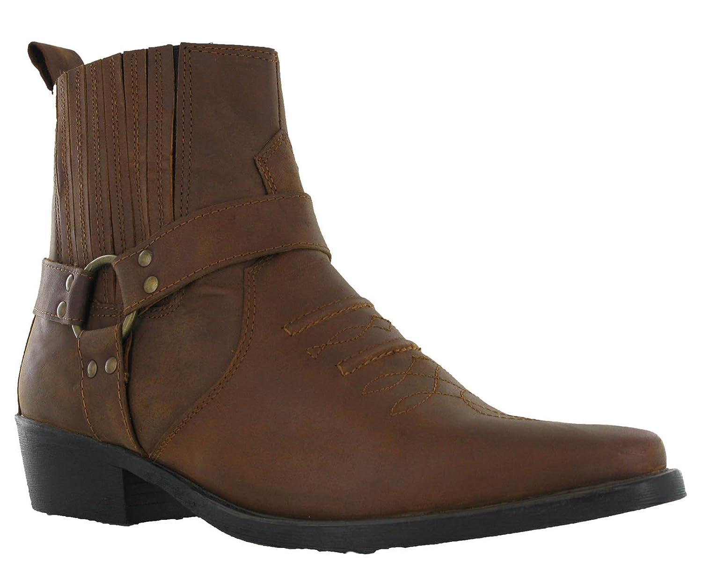 Maverick - Botas de tobillo de piel con elegante tacón cubano para hombre, talla 40 - 46: Amazon.es: Zapatos y complementos