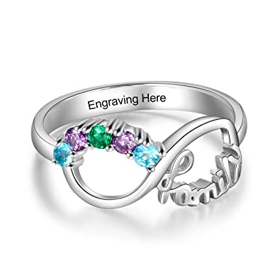 d86737c500969 Amazon.com: Love Jewelry Personalized Sterling Silver Infinity ...
