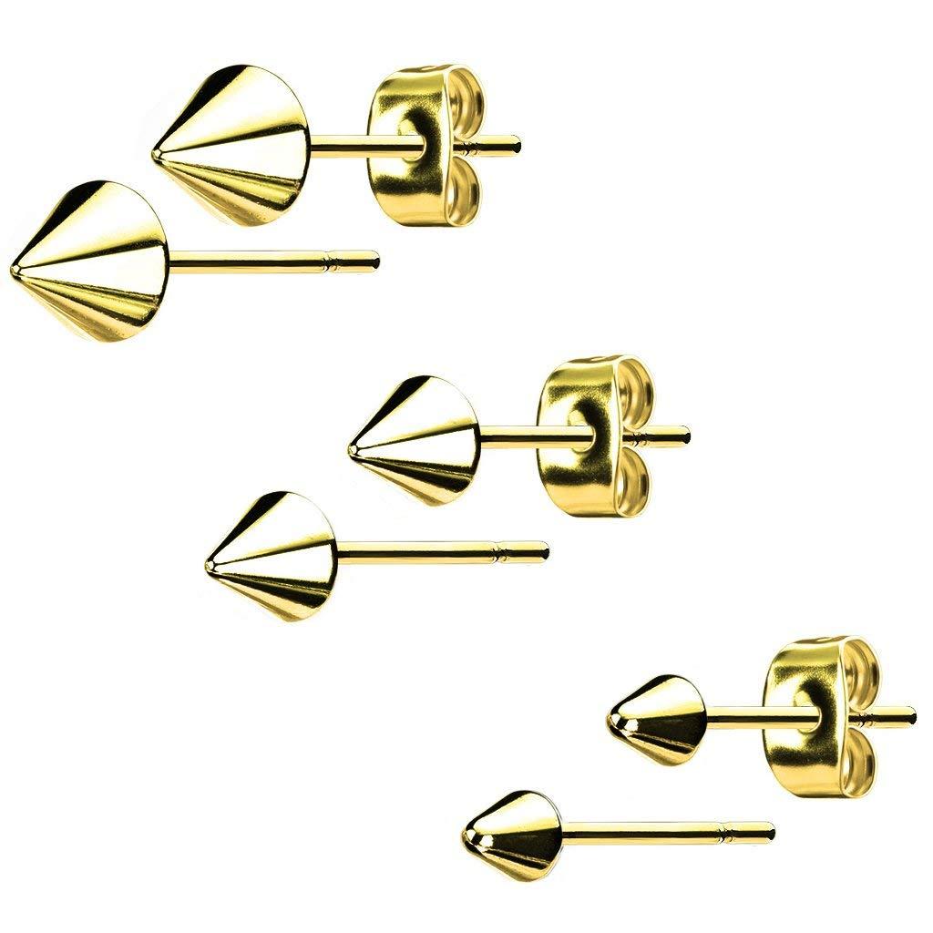 316L Surgical Steel Spike Stud Earrings