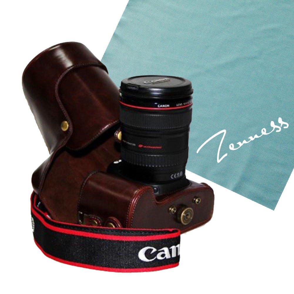 Zenness estilo retro de piel sintética funda para cámara Canon EOS ...