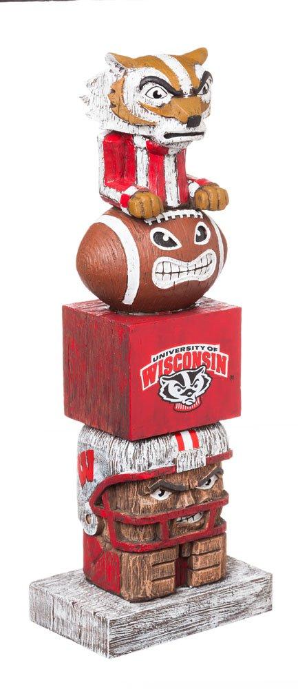 Evergreen NCAA Wisconsin Badgers Tiki Totem