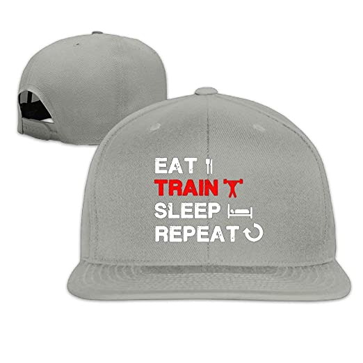 1fb739b357f Men s Eat Train Sleep Repeat Gym Tank Fitness Apparel Adjustable Cap  Trucker Hat