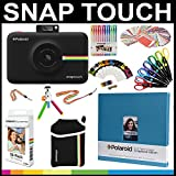 Polaroid Snap Touch Instant Camera Gift Bundle + ZINK Paper (30 Sheets) + 8x8'' Cloth Scrapbook + Pouch + 6 Edged Scissors + 100 Sticker Border Frames + Gel Pens + Hanging Frames + Accessories
