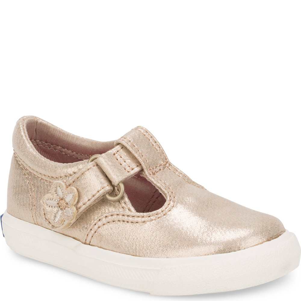 Keds Daphne T-Strap Sneaker (Toddler/Little Kid), Gold, 4.5 M US Toddler