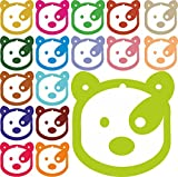 Teddy Bear Hang Tag with Thread Craft Supply Paper Craft DIY Assorted Tag Gift