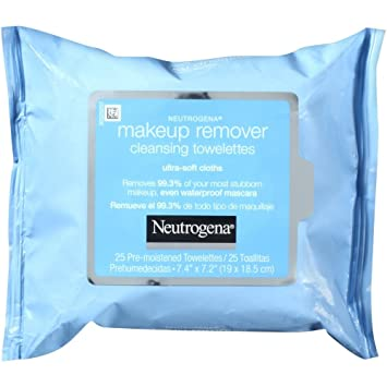Neutrogena Make-Up Remover Cleansing Towelettes Refills 25 Each (Pack of 5)