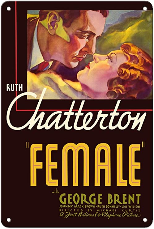 Amazon.com: Pacifica Island Art Female - Starring Ruth Chatterton & George  Brent - Directed by Michael Curtiz - Vintage Film Movie Poster c.1933-8in x  12in Vintage Metal Tin Sign: Posters & Prints