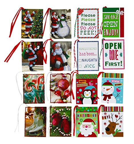Paper Magic, Tie-on Christmas Holiday Gift Tags - 128 Tags