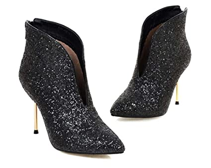Women s Shoes Paillette Glitter Fall Winter Fashion Boots Bootie Boots  Stiletto Heel Pointed Toe Booties  3a0e6bc509b