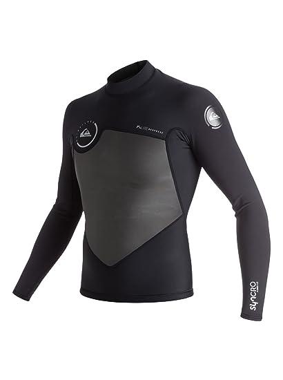 Quiksilver Mens 1.5 Syncro Ls Mesh Jacket Flt Black Full ...