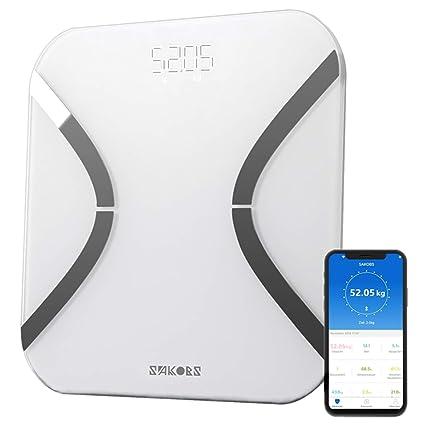 Sakobs – Báscula digital inteligente con aplicación (idioma español no garantizado) y tecnología BIA