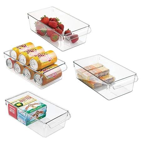 mDesign Cajas organizadoras grandes con asa - cajas plasticas ...