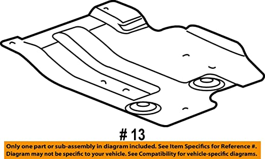 Amazon Com Genuine Gm 10365308 Engine Oil Pan Skid Plate Automotive