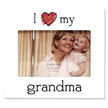 Amazoncom Lawrence Frames I Love My Grandma Picture Frame 6 By
