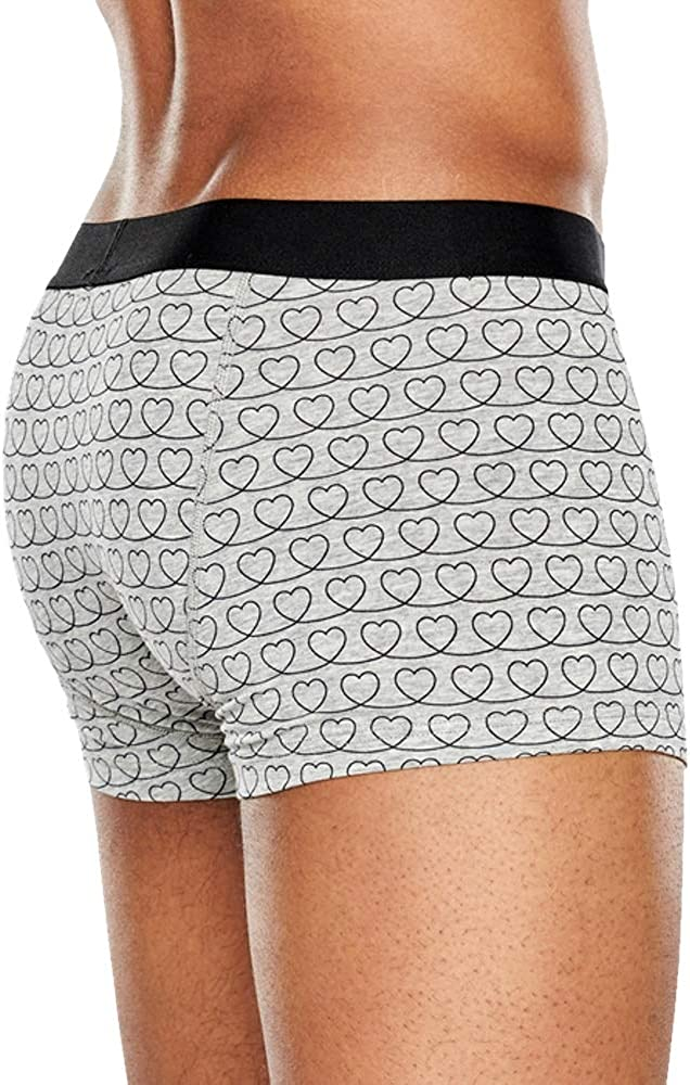 Colored with Simple Gray and Black Pattern Comfortable and Breathable Cotton. Loveline Mens Boxer