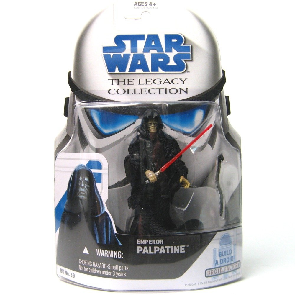 Amazon: Emperor Palpatine Star Wars Legacy Collection Bd No 39 Action  Figure, Accessories & Build A Droid Piece: Toys & Games