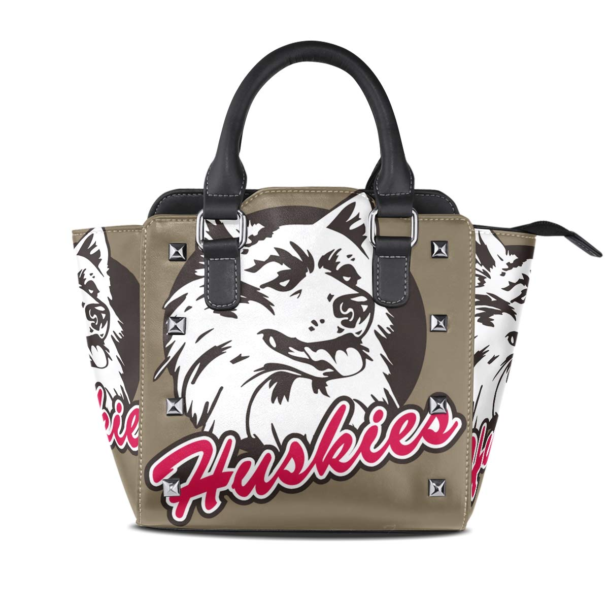 color5 Eight Running Horses Women Leather Studded Bags Shoulder Bags Tote Bag Handbags