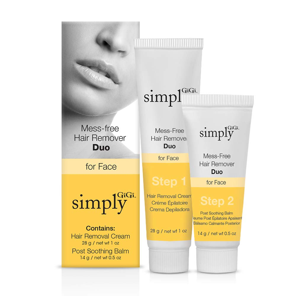 Simply GiGi Mess-Free Facial Hair Removal Cream and Soothing Balm Duo