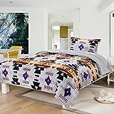 Southwest Design (Navajo Print) Twin Size 2pcs Set 16112 Grey