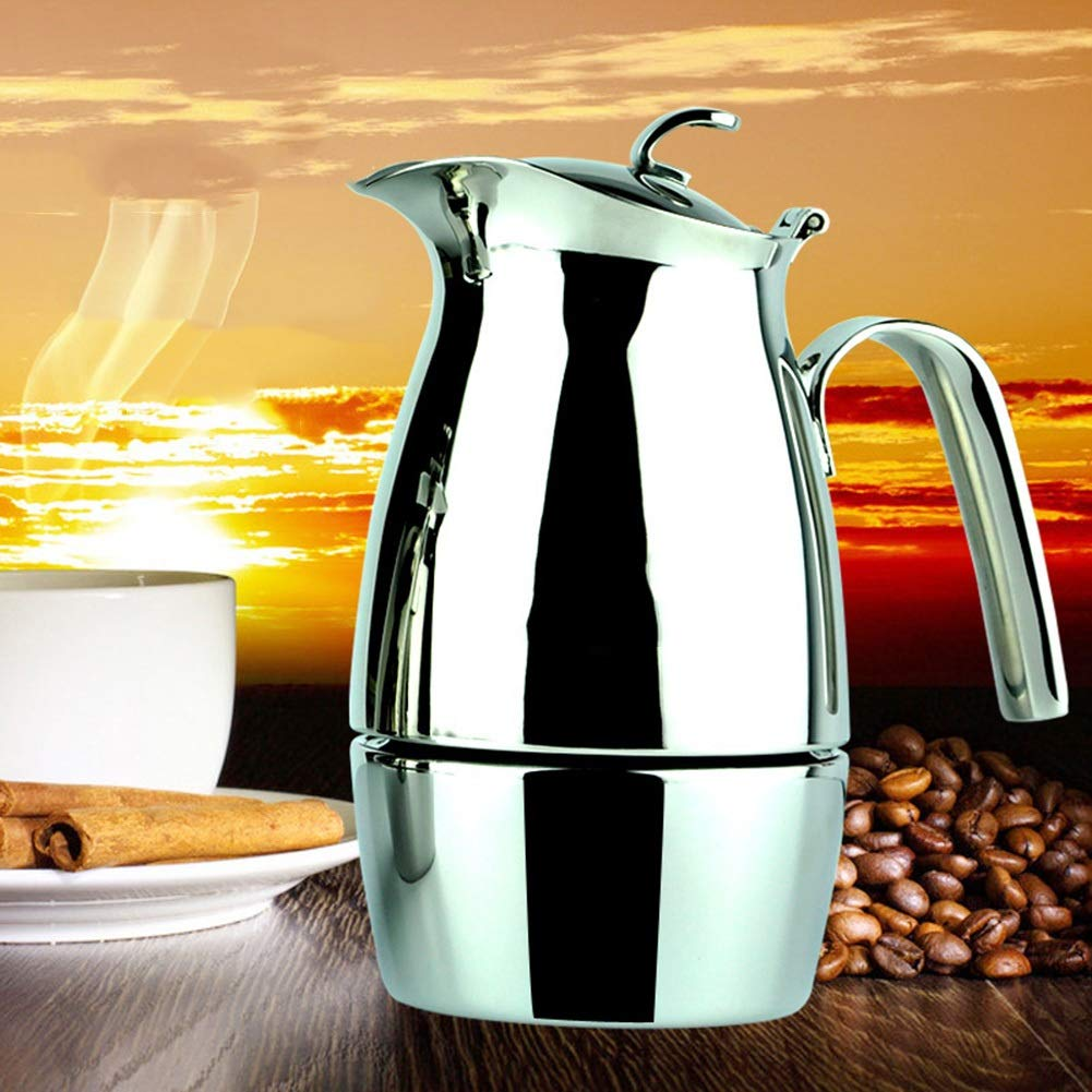 Coffee Pot Tea Pot Coffee Kettle Espresso Coffee Maker Coffee Machine French Coffee Press Mocha Household Stainless Steel Induction Cooker (Color : Stainless Steel, Size : 8.819cm) by GAOFENG-coffee pots (Image #3)