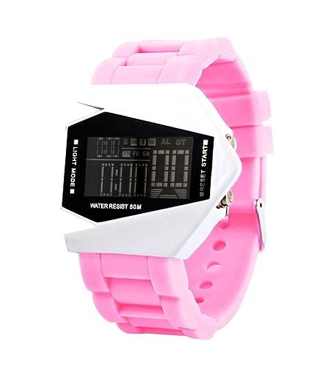 Diseño de rosa de las mujeres de los estudiantes LED unique Digital reloj de pulsera deportivo