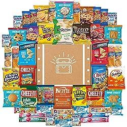 Snack Chest Crafted With Love. Assortment Includes: 4 Air Heads (0.55 oz), 2 Varieties: Cheez It (1.5 oz), 1 Chex Mix (1.75 oz), 1 Goldfish Original (1 oz), 4 Grandmas Cookies (2.5 oz), 5 Keebler Mix 5 (1 oz), 6 Lance Crackers (1.52 oz), 1 M&M Co...