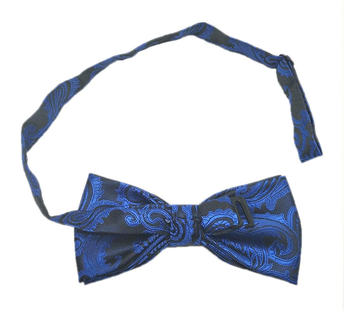 Biruil Mens Paisley Formal Cummerbund /& Self Tie Bowtie /& Pocket Square Set For Tuxedo