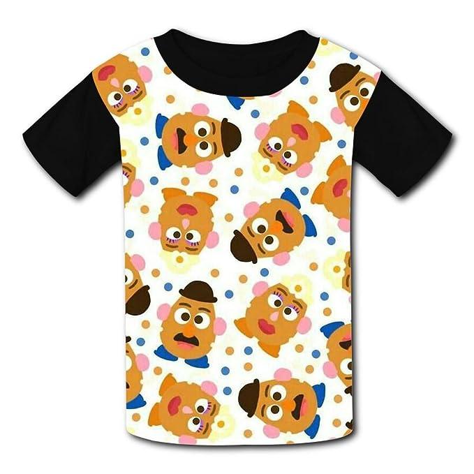 452b613f Amazon.com: Round Collar Polyester Fiber Sport Short Sleeve Top T-Shirts  For Unisex Child,Print Family: Clothing