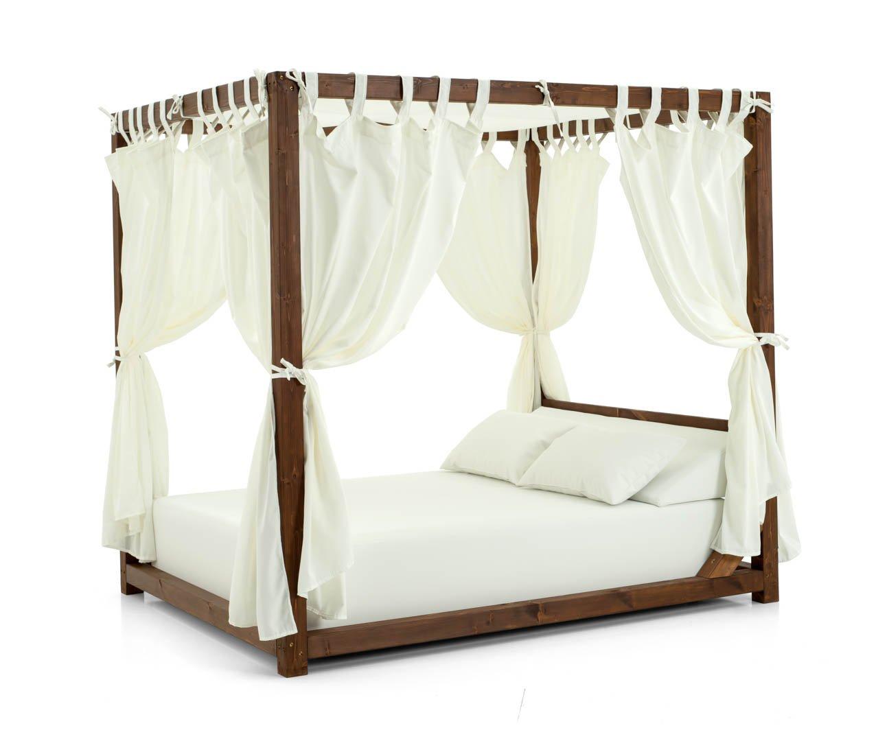 Estructura de madera para tumbona doble de exterior: Amazon.es: Jardín