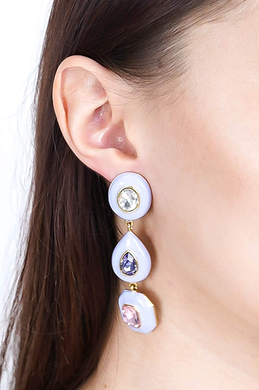 Little Hazel Triple Lavender Earrings