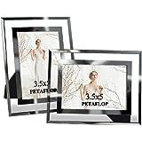 PETAFLOP おしゃれ フォトフレーム L サイズ 透明写真立て 2枚セット お祝い プレゼント ギフト 3.5x6CH180313