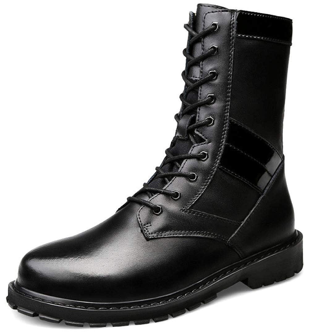 Herrenmode Martin Stiefel Warmfutter Wasserdichte Stiefel Chelsea Stiefel Schneestiefel,schwarz1-45EU