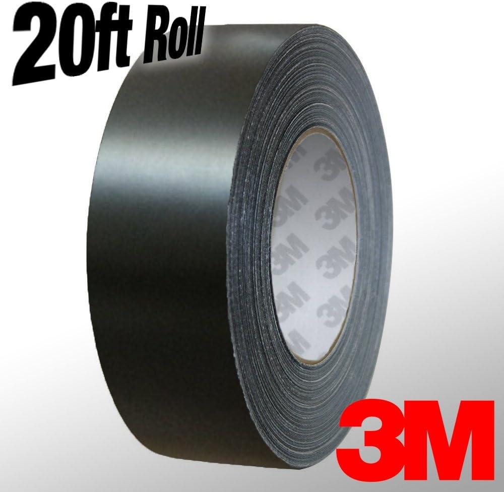 VViViD Black Matte Air-Release Adhesive Vinyl Tape Roll 1 x 20ft